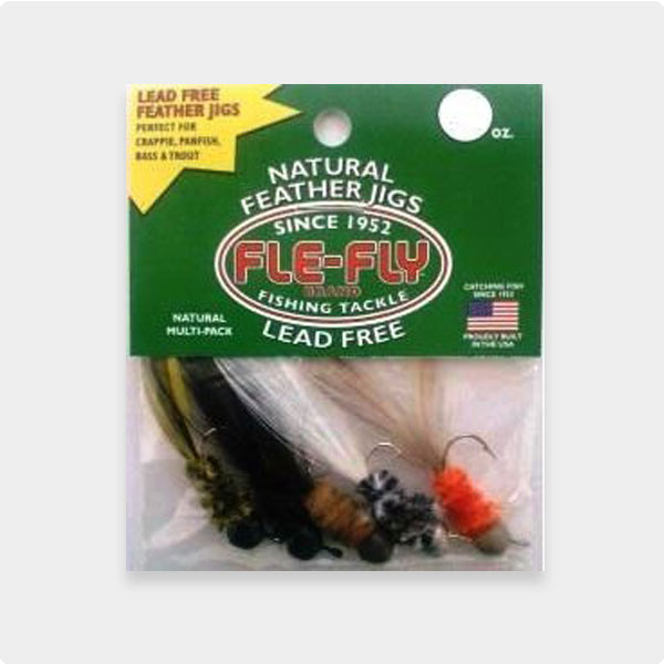 Fle-Fly Lead Free Jigs - Natural Multi Pack