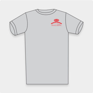 Crappie Kicker T-shirt Grey with Red Logo