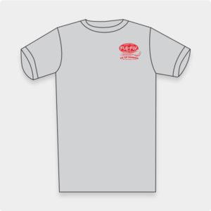 Go Go Minnow T-shirt - Grey, Red Logo