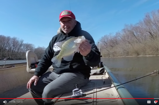 Dead Sticking Crappie with Fle Fly